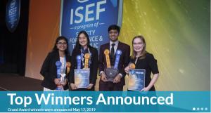 Capture ISEF Winners 2019